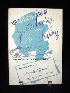 Vtg Doris Anderson Lesson 4 Book Simplified Sewing Assembly Garment Crowley's  ..... We are TOP RATED * POWER Sellers on EBAY * Selling WORLDWIDE. Visit us at our EBAY STORE * 4COOLSTUFF2BUY with any questions or items for sale.