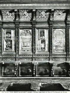 Stalli del coro di Monte Oliveto Maggiore.  1503-1505 (molti furono portati nel Duomo di Siena)