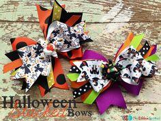 Halloween Stacked Bows - The Ribbon Retreat Blog