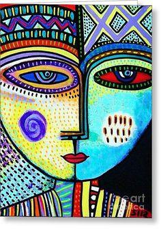 Turquoise Sky Goddess Greeting Card by Sandra Silberzweig