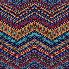 Chevron vecteur de style africain avec d. Ethnic Patterns, Textile Patterns, Color Patterns, African Patterns, African Colors, African Theme, African Prints, Pattern Art, Pattern Design