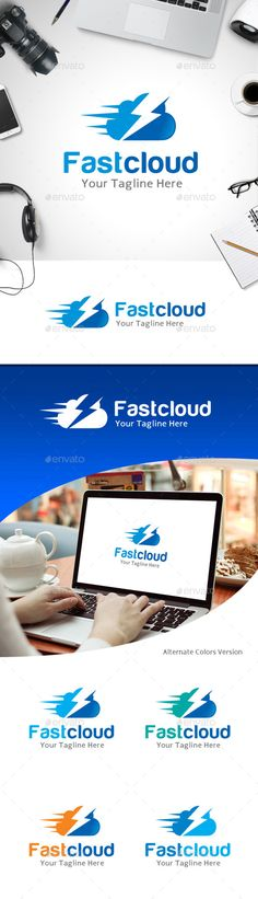 Fast Cloud Logo — Vector EPS #computer #internet • Available here → https://graphicriver.net/item/fast-cloud-logo/11214027?ref=pxcr