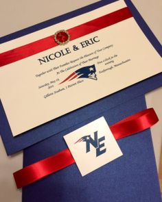 New England Patriots Wedding Invitation