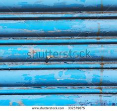 blue abstract metal in englan london railing steel and background - stock photo