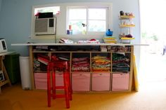 The Craft Room Redesign Project: DIY Sewing & Cutting Tables | Pretty Prudent