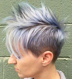 Spiky Silver Blue Pixie