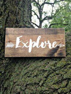 Explore, Explore sign, Woodland Nursery, Wilderness, Rustic Decor, Woodland…
