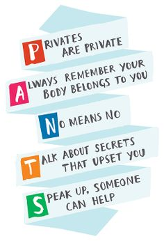 Talk PANTS and help keep your child safe from abuse. You have to be careful with everyone especially those people close to you. Kids are more vulnerable with people they feel comfortable with! Scary but necessary to talk to your child about starting at 3-4yrs.