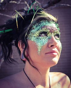 Glitter Makeup Mask - too cool!