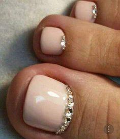 Nails Design Fall Pedicure For 2019 Fall Pedicure, Wedding Pedicure, Pedicure Nail Art, Toe Nail Art, Wedding Toe Nails, Polish Wedding, Pedicure Ideas Summer, French Tip Pedicure, French Pedicure Designs