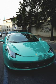 Tiffany Blue Ferrari