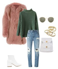 """""""Untitled #322"""" by ninisalgado ❤ liked on Polyvore featuring J. Mendel, Alexander Wang, Ray-Ban, MM6 Maison Margiela, Chanel and Kendra Scott"""