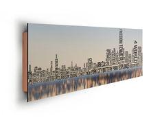 Poster: NY Typo Buildings online te koop. Bestel je poster, je 3d filmposter of soortgelijk product Deco Panel 52x156