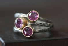 Natural Ruby Ring in 14kt + Sterling Silver – Alexis Russell