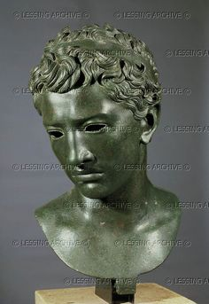 Juba II, king of Mauretania (reigned 25 BCE-23 CE). Educated in Rome, he married Cleopatra Selene,daughter of Cleopatra VII.and Anthony.Bronze bust from Volubilis,Morocco. Bronze, 47 cm Inv.Vol.140