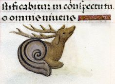 'Hours of Joanna the Mad', Bruges 1486-1506.  (snail-stag?)