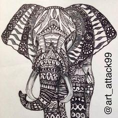 #elephant #draw #drawing #drawings #art #artattack #pencil #black #pen #doodle #doodling #zentangle #happy #birthday #bnw #winter #2015 #instashit #instadraw #instaart
