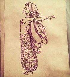 lyy! #art #draw #drawing #illustration #concept #artwork #sketchbook #sketch #character #design #doodle #girly #girl #pose #princess