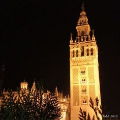 #TheSecretsOfSeville ¡Qué bella que es la Giralda! How beautiful the Giralda! This former minaret in the Cathedral of Seville is the city's foremost emblem. According to the Sevillanos, Seville is the envy of Spain.  A city bursting with history, brimming with colour that surprises you at every corner with picture postcard scenes of archetypal Spanish life.   #ExperienceTheSpainYouNeverKnew