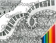 Zentangle Music Coloring Page Is The Voice Of Soul Download Color
