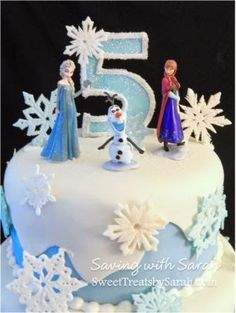 Saving with Sarah: Frozen Cake with Snowflakes