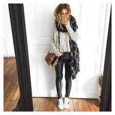 hello This is a really simple Fall styl outfit, i think its perfect for schol and maybe also a Date? Look Fashion, Winter Fashion, Fashion Outfits, Womens Fashion, Moda Casual, Casual Chic, Fall Outfits, Casual Outfits, Mode Shoes