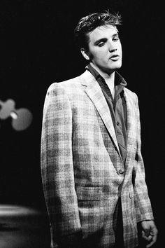 Elvis during a dress rehearsal for The Ed Sullivan Show, September 9, 1956.