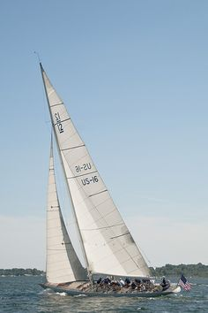 1958, Columbia, 12-Metre class. Much smaller and cheaper than the classic J-class yachts.
