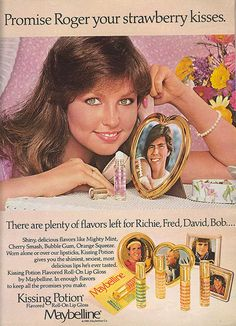 "Yes, that is Deborah ""Valley Girl"" Foreman in the Maybelline Kissing Potion ad!  I wish they still made this stuff."