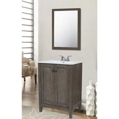 Somette Elegant Lighting Single Bathroom Vanity Set