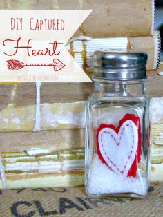 Captured Heart Snow Globes…..great as gifts or to use to decorate! #diy #valentinesday #valentines