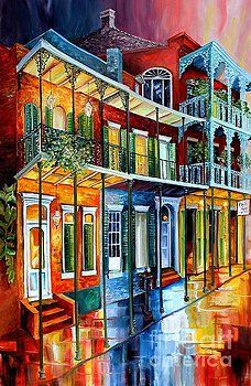 Bourbon Street by Diane Millsap ..diane millsap original paintings