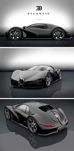 This modern take on the Atlantic, is a stunning hybrid of old and new with a modern Bugatti front half and classic rear. Bizarre and elusive, the late Bugatti Type Atlantic is largely considered to be one of the most beautiful automotive designs Bugatti Cars, Bugatti Veyron, Bugatti Type 57, Supercars, Carros Lamborghini, Lamborghini Aventador, Audi R8, Cars Vintage, New Luxury Cars