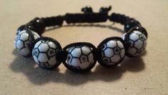 Black soccer bracelet