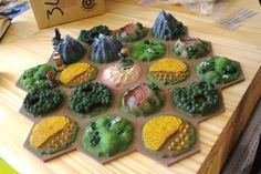 Beautiful custom made settlers of Catan board!