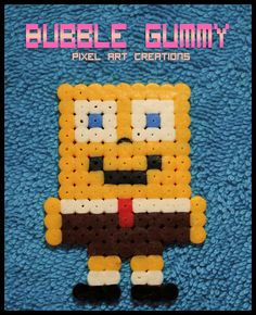 SpongeBob hama beads by Bubble Gummy pixel art