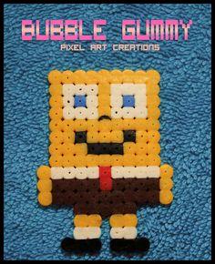 SpongeBob hama beads by Bubble Gummy pixel art
