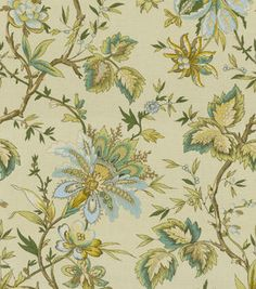 Home Decor Print Fabric Waverly Felicite Mineral