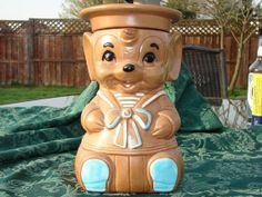 Winton Cookie Jar 60's Collectible by TheDawgProjects on Etsy, $25.00