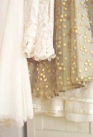 Bridesmaid colours, cream, lace