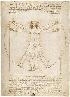 "Leonardo da Vinci, ""Vitruvian Man"""