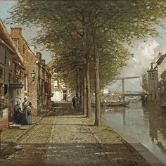 Johannes Christiaan Karel Klinkenberg ()   Grachtje te Oudewater