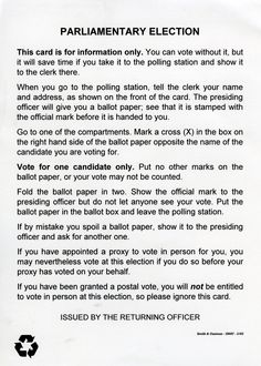 Election Parliamentary Elections, Polling Stations, Names
