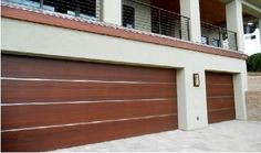 modern wooden garage doors - Google Search