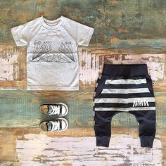 UNISEX • Sapling organic tee, Minti pouch trackies & Converse low rise Chucks. Shop these styles at Tiny Style in Noosa & online • www.tinystyle.com.au/Shop-Insta