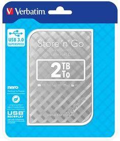 "Verbatim Store 'n' Go GEN 2, 2TB, externý HDD 2.5"" USB 3.0, strieborný"