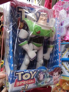 A deformed, trash bin bootleg of Buzz Lightyear. More an industrial accident presented as entertainment.