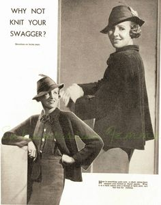 The   Vintage   Pattern   Files: 1930's Knitting - Swagger Coat