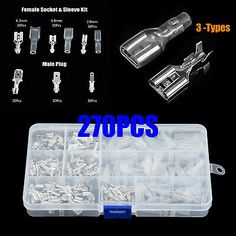 270x female male cable lugs car electrical wire terminals crimp connector  G3D