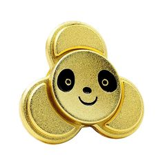 Fidget Spinner Panda Face High Speed EDC ADHD Spinning Toys-Gold